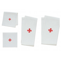 Altar linen with red cross