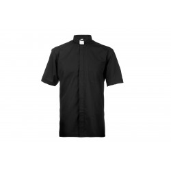 Black clerical shirt with...